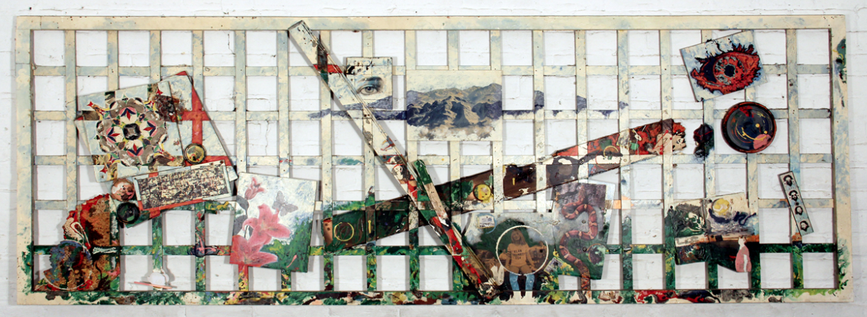 "mixed media,                          Oct 1988, 36""x 96"" (revised Oct. 1990 -revised June 1991)"