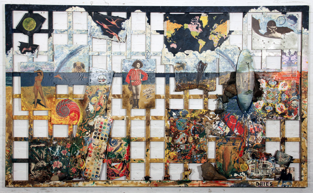 "mixed media,                          Dec. 1988,                          48"" x 79"""